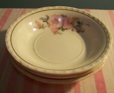 3 Crooksville China Pink Blossom Berry Bowls 5 3/8""