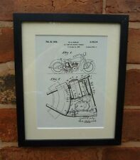 USA Patent Drawing HARLEY DAVIDSON MOTORCYCLE CYCLE oil tank MOUNTED PRINT 1938