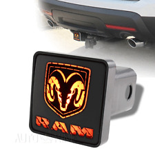 "Dodge Ram Trailer Tow Hitch Cover Brake Light For 2"" Receiver 2 Prong Connector"