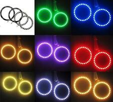4x 90mm 15W CCFL Car RGB Angle Eyes LED Halo Rings COB Fog Lights Remote Control