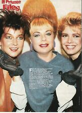 KIM WILDE/TOYAH/MARI WILSON  magazine PHOTO/Poster/clipping 11x8 inches