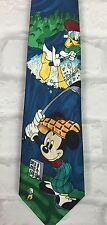 MENS VINTAGE 90'S DISNEY MICKEY MOUSE DONALD DUCK NECK TIE RETRO GOLF SUIT URBAN
