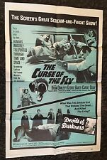 CURSE OF THE FLY/DEVILS OF DARKNESS 1sh '65 great scream-and-fright double-bill!