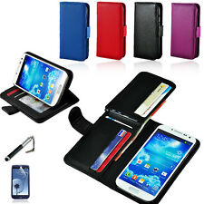LEATHER WALLET CARD IWALLETCASE FLIP CASE COVE SAMSUNG Galaxy S4 S IV i9500 4G