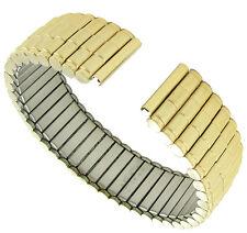16mm Hirsch Straight End Twist-O-Flex IP Gold Tone Circular Link Watch Band