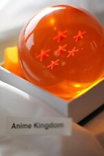 "USA Seller Cosplay DBZ Crystal Resin 3"" Large 3D Dragon Ball 6 Stars with Box"