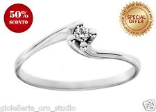 Anello solitario Classico Diamante Vero e Oro Bianco carati 18 scontato € 98,80!