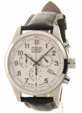 $400 tag NEW WENGER SWISS MILITARY MENS CHRONO LEATHER WATCH 79013