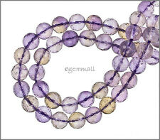 """24 Ametrine Round Faceted Beads 8mm 7.8"""" #55104"""