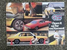 1973 HOLDEN HQ GTS MONARO SALES BROCHURE  100% GUARANTEE