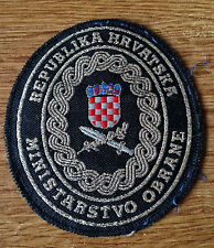 CROATIA ARMY - HV - MINISTRY OF DEFENSE  luxury embroidered with metal threads