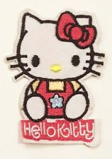 HELLO KITTY LOGO NAME IRON ON EMBROIDERED FABRIC APPLIQUE PATCH USA SELLER