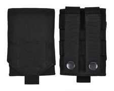 Black MOLLE Tactical Cordura Mobile Cell Phone Smartphone Belt Pouch Bag Case L