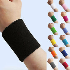 Sport Basketball Yoga Unisex Cotton Sweat Wrist Band Sweatband Wristband AV