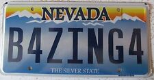 Nevada 2010 VANITY License Plate BE FORCING FOR