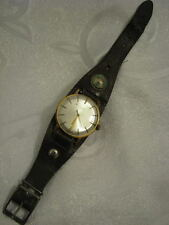 Vintage LUCH Military Gold Filled Mechanical Men's Watch + compass