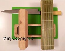 NEW - SUSHI MAKING KIT SET - INCLUDES BAMBOO MAT, MOULDING BLOCK MAKER RICE GIFT