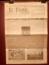 Newspaper France Boy Scouts Camp Rally Abbeville 1930