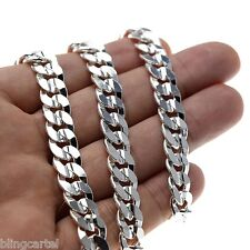 "Miami Cuban Curb Link Chain Silver Plated 10 MM Wide 24"" Inch Hip Hop Necklace"