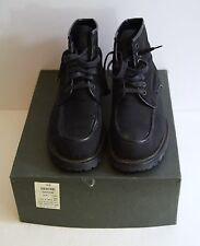 Gucci Black Nylon/Leather Trim Lace Up Chunky Ankle Boots Sz 8.5 B