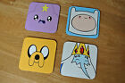 Adventure Time With Finn and Jake Wood Coasters For Mugs/Cups Set & Individual