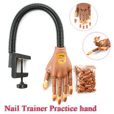 Flexible Nail Training Hand + 100 Replace Nails - Gel & Acrylic Practice