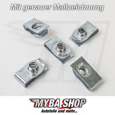 5x METALL HALTER KLAMMERN KLEMM MUTTER FÜR JEEP GM CHRYSLER FORD 11503714 #NEU#