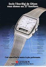 PUBLICITE ADVERTISING 035 1980 CITIZEN la montre l'Ana-digi