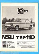 QUATTROR965-PUBBLICITA'/ADVERTISING-1965- NSU TYP 110