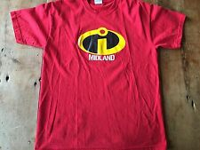 The Incredibles  T-shirt Sz Medium DISNEY PIXAR Midland Texas CD