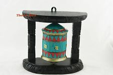 "6.5""Tibetan,Wall Hanging Prayer Wheel,Turquoise Coral Tibetan Prayer,thamel Mart"