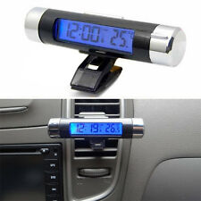 Car Air Vent Clip Stick On Electronic Clock Thermometer Digital LCD Display CT20