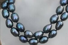 8-9mm black south sea baroque pearl necklace 35""