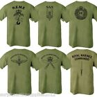BRITISH ARMY REGIMENT T-SHIRT 100% COTTON REME SAS ENGINEERS PARA GURKHA MARINE