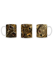 Steampunk Clockwork Cogs Pattern Black and Gold Mug