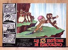 LE 13 FATICHE DI ERCOLINO fotobusta poster Saiyuki Animazione Scimmia Cascata