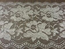 WHITE LACE Trim Bridal Vintage 5.5 inch Wide Floral  5 yards Free Shipping