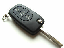 VW Golf Jetta Passat etc... 3 Button Flip Remote Key Fob Case + Blank HAA Blade