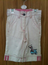 Disney Girls White Denim Shorts 104cm - Age 4 Years