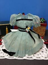 """* Tagged Original 17"""" Ideal Shirley Temple Blue Nylon Party Dress *"""