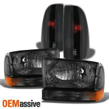 99-04 Ford F250/350/450/550 Superduty Smoked Headlights Signal Lamps+Tail Lights