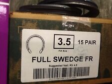 St Croix Full Swedge Size 3.5 ONE Pair Steel Standardbred Race Horseshoes