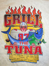 97 NEW ENGLAND PATRIOTS GRILL THE TUNA (LG) Shirt PARCELLS New York Jets