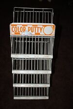 Vintage 20 Year Anniversary Color Putty Wire Display Rack for 16 Colors 3.68 oz