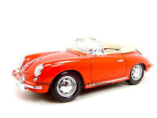 1961 PORSCHE 356B CONVERTIBLE RED 1:18 DIECAST MODEL CAR BY BBURAGO 18-12025