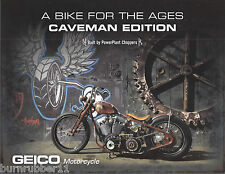 """CAVEMAN EDITION """"GEICO MOTOCYCLE"""" BY POWER PLANT CHOPPERS HANDOUT"""