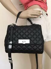 NWT Michael Kors Callie Black Quilted Leather Messenger Crossbody Bag