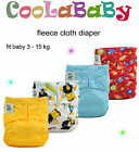 Coolababy One Size Fleece Cloth Diaper Reusable Baby Pocket Diaper + insert