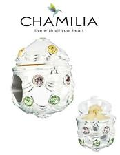 Genuine CHAMILIA 925 sterling silver & Swarovski Easter Egg charm bead with gold