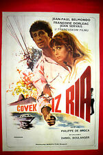 THAT MAN FROM RIO 1964 JEAN-PAUL BELMONDO DORLEAC FRENCH RARE EXYU MOVIE POSTER